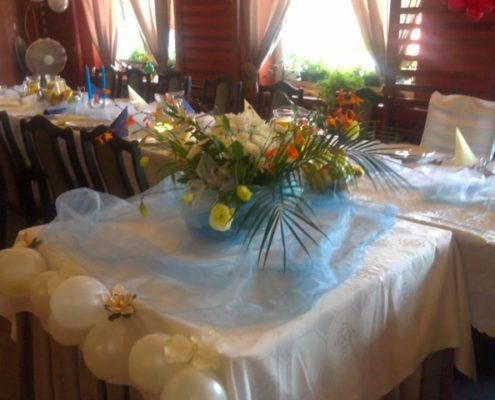 Balony i świeże kwiaty